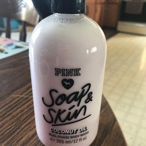 Pink body wash